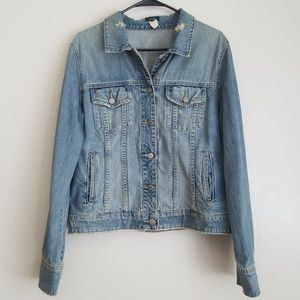 J.Crew | Vintage Distress Denim Jacket